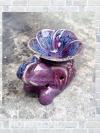 เตาศิลาดล กลาง รูปช้าง กับ ดอกลีลาวดี สีม่วง