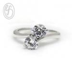 แหวนเงินผู้หญิง เพชรสังเคราะห์ cz เกรด AAA เหมาะเป็นของขวัญในวันพิเศษ แหวนแมั้น