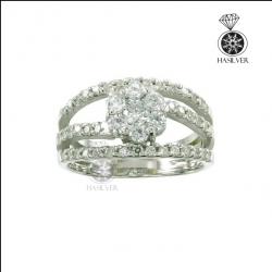 แหวนเงินแท้ แหวนเพชรCZ เจิดจรัสบนนิ้วคุณ