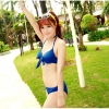 [พร้อมส่ง]BKN-002 ชุดว่ายน้ำบิกินี่ทูพีชสีน้ำเงิน