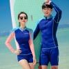 ชุดว่ายน้ำผู้ชายแขนยาว สีน้ำเงิน-ฟ้า