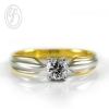แหวนเงินผู้หญิง เงินแท้ ชุบทอง เพชรสังเคราะห์ cz เกรด AAA เหมาะเป็นของขวัญในวันพิเศษ แหวนแมั้น แหวนแต่งงาน