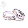 แหวนคู่รัก แหวนเงินแท้ 925 ทำลายผิวและชุบทอง ฝังเพชร cz เพชรสังเคราะห์ เหมาะเป็นแหวนหมั้น แหวนแต่งงาน