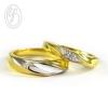 แหวนคู่รัก แหวนเงินแท้ 925 ชุบทองคำแทะและทองคำขาว วงผู้หญิงฝังเพชร cz เพชรสังเคราะห์ เหมาะเป็นแหวนหมั้น แหวนแต่งงาน ของขวัญสำหรับคนพิเศษ สำเนา