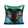 หมอนอิง สลับสี หรู เสริมจินตนาการ พร้อมด้านผ้าซาตินพรีเมี่ยม สีดำด้าน/ สีเขียวหางนางเงือก (Black/Mermaid Tail)