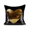 หมอนอิง สลับสี หรู เสริมจินตนาการ พร้อมด้านผ้าซาตินพรีเมี่ยม สีดำด้าน/ สีทอง (Black/Gold)