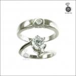 แหวนเพชรCZ คู่รัก เงินแท้925 แหวนแทนใจที่มีกันและกัน