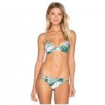 [พร้อมส่ง]BKN-1004 ชุดว่ายน้ำบิกินี่ ทูพีช โทนสีเขียวขาว