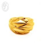แหวนเงินเกลี้ยง เงินแท้ 92.5% ดีไซน์พิเศษ ชุบทองคำแท้