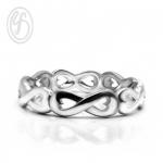 แหวนเงินเกลี้ยง เงินแท้ 92.5% ชุบทองคำขาว แหวนอินฟินิตี้ หน้ากว้าง 5 มม. เหมาะเป็นของขวัญในวันพิเศษให้คนพิเศษของคุณ