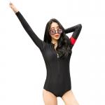 ชุดว่ายน้ำแขนยาว วันพีช สีดำ แขนสกรีนอักษร