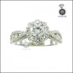 แหวนเงินแท้ แหวนเพชรCZ สวยดั่งเพชรแท้