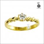 แหวนเงินแท้ ชุบทองคำ ประดับเพชรCZ สวยระยิบระยับดั่งเพชรแท้