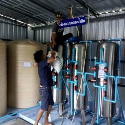 งานติดตั้งโรงงานน้ำดื่ม กำลังการผลิต 36,000 ลิตรต่อวัน