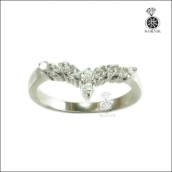 แหวนเงินแท้ ชุบทองคำขาว ใส่ติดนิ้วน่ารักๆ