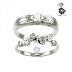แหวนเงินแท้ คู่รัก ประดับเพชรCZ สวยดั่งเพชรแท้