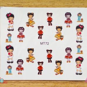 สติ๊กเกอร์ติดเล็บ MT72