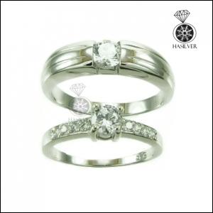 แหวนเพชรCZ คู่รัก ประกายสวยดั่งเพชรแท้