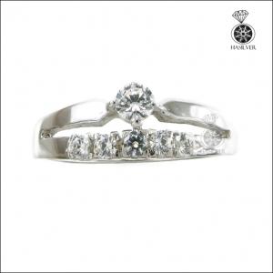 แหวนเงินแท้ ชุบทองคำขาว ใส่ติดนิ้วน่ารักๆ ดูสวยเก๋