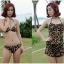 [พร้อมส่ง]BKN-174 ชุดว่ายน้ำบิกินี่ทูพีชลายเสือ ขายพร้อมชุดเอี๊ยมกางเกงขาสั้นสวยเซ็กซี่ thumbnail 9