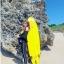 ชุดว่ายน้ำแขนยาวขายาว เซ็ต 4 ชิ้น สีดำตัดขอบลายเหลืองสวยๆ yellow-black soldier thumbnail 4