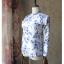 [พร้อมส่ง]BKN-533 ชุดว่ายน้ำแขนยาว พื้นสีขาวลายดอกไม้สีน้ำเงิน thumbnail 6