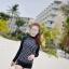 [พร้อมส่ง]BKN-798 ชุดว่ายน้ำแขนยาวสีดำลายจุดขาว แขนสกรีนลาย (เสื้อ+กางเกง) ผู้หญิง thumbnail 3