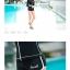 ชุดว่ายน้ำแขนยาวซิปหน้า กางเกงขาสั้น สีดำแต่งขอบขาว thumbnail 6