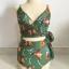 ชุดว่ายน้ำวันพีช สีเขียวเข้ม ดอกไม้น้ำตาล thumbnail 3