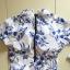 [พร้อมส่ง]BKN-533 ชุดว่ายน้ำแขนยาว พื้นสีขาวลายดอกไม้สีน้ำเงิน thumbnail 4
