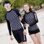 [พร้อมส่ง]BKN-798 ชุดว่ายน้ำแขนยาวสีดำลายจุดขาว แขนสกรีนลาย (เสื้อ+กางเกง) ผู้หญิง thumbnail 1
