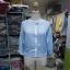 เสื้อคลุมแฟชั่น ผ้าชีฟองเนื้อทราย แขนยาว ปลายจั๊ม สีเทาและสีฟ้า thumbnail 9