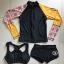 ชุดว่ายน้ำแขนยาว เซ็ต 3 ชิ้น แขนเสื้อลายสวย(โทนส้มน้ำตาล) thumbnail 2