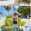 ชุดว่ายน้ำวันพีช ลายNavy สีน้ำเงินกรมท่า สายมัดคอ เว้าหลังลึก thumbnail 5