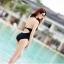 [พร้อมส่ง]BKN-032 ชุดว่ายน้ำวันพีชสีดำ ร่องอกซีทรูเซ็กซี่ หลังเว้าลึก thumbnail 4