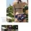 ชุดว่ายน้ำบิกินี่ทูพีช สีน้ำเงินแต่งลายธงสวยๆ thumbnail 3