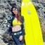 ชุดว่ายน้ำแขนยาวขายาว เซ็ต 4 ชิ้น สีดำตัดขอบลายเหลืองสวยๆ yellow-black soldier thumbnail 6