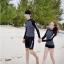 [พร้อมส่ง]BKN-798 ชุดว่ายน้ำแขนยาวสีดำลายจุดขาว แขนสกรีนลาย (เสื้อ+กางเกง) ผู้หญิง thumbnail 2