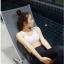 ชุดว่ายน้ำแขนยาว+ขายาว เซ็ต 4 ชิ้น สีดำแต่งลายเส้นสลับสีขาวดำ (บรา+บิกินี่+กก.ขายาว+เสื้อแขนยาว) thumbnail 8