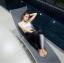 ชุดว่ายน้ำแขนยาว+ขายาว เซ็ต 4 ชิ้น สีดำแต่งลายเส้นสลับสีขาวดำ (บรา+บิกินี่+กก.ขายาว+เสื้อแขนยาว) thumbnail 9