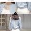 เสื้อคลุมแฟชั่น ผ้าชีฟองเนื้อทราย แขนยาว ปลายจั๊ม สีเทาและสีฟ้า thumbnail 4