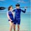 ชุดว่ายน้ำผู้ชายแขนยาว สีน้ำเงิน-ฟ้า thumbnail 4