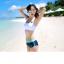 [พร้อมส่ง]BKN-529 ชุดว่ายน้ำแขนยาว เซ็ต 3 ชิ้น บราขาว+แขนยาวฟ้า+กก.ขาสั้นน้ำเงิน thumbnail 8