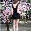 ชุดว่ายน้ำวันพีชสีดำ สายเสื้อกล้าม กระโปรงระบายสวยๆ 2-3XL thumbnail 3