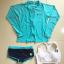 [พร้อมส่ง]BKN-529 ชุดว่ายน้ำแขนยาว เซ็ต 3 ชิ้น บราขาว+แขนยาวฟ้า+กก.ขาสั้นน้ำเงิน thumbnail 11
