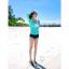 [พร้อมส่ง]BKN-529 ชุดว่ายน้ำแขนยาว เซ็ต 3 ชิ้น บราขาว+แขนยาวฟ้า+กก.ขาสั้นน้ำเงิน thumbnail 2