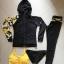 ชุดว่ายน้ำแขนยาวขายาว เซ็ต 4 ชิ้น สีดำตัดขอบลายเหลืองสวยๆ yellow-black soldier thumbnail 9