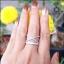 แหวนเงินแท้ ประดับเพชรCZ เกรดพรีเมี่ยม ดีไซน์สุดเก๋มีสไตล์ thumbnail 5
