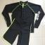 ชุดว่ายน้ำแขนยาว ผู้ชาย สีดำขอบเขียว (เสื้อ+กางเกงขาสั้น) thumbnail 2