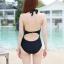 [พร้อมส่ง]BKN-032 ชุดว่ายน้ำวันพีชสีดำ ร่องอกซีทรูเซ็กซี่ หลังเว้าลึก thumbnail 5